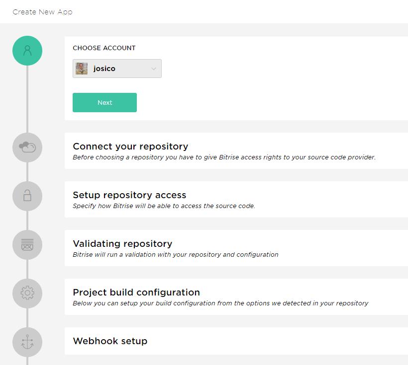 Crear una nueva aplicación Android en Bitrise