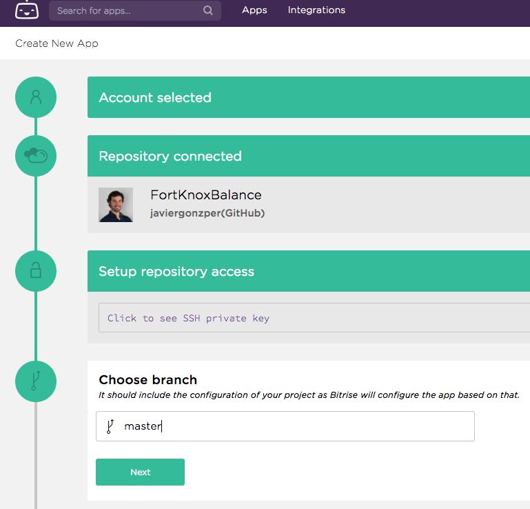 Add new app steps