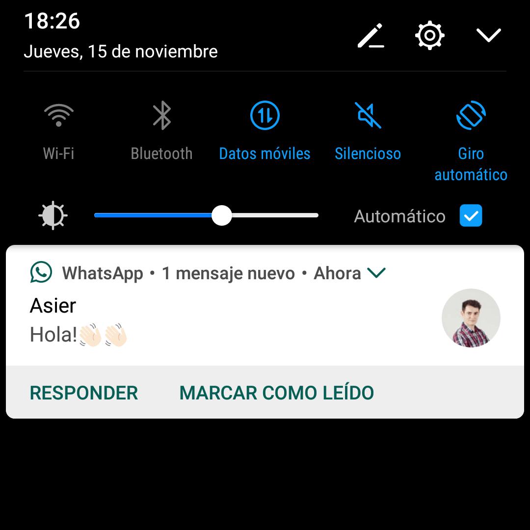 push whatsapp