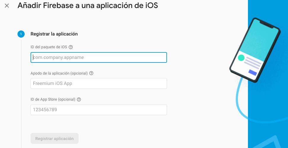 Add iOS app to Firebase