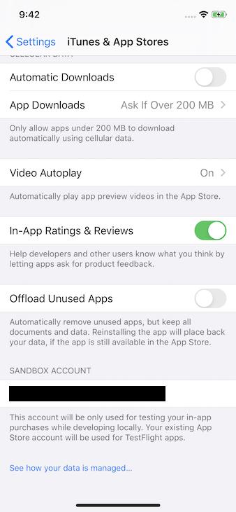 sandbox iphone