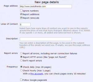 Follow That Page sends you an email when your favorite web pages have changed.