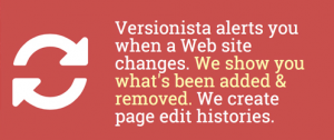 Versionista alerts you when a Web site changes