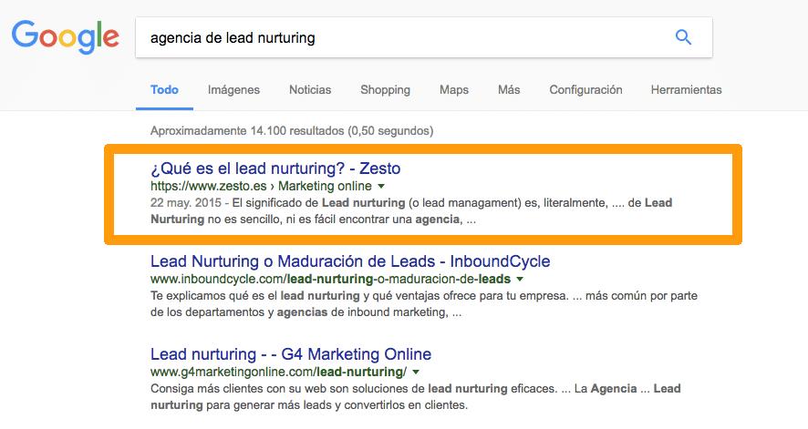 Agencia Lead Nurtuing