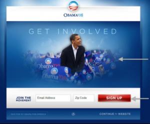 Obama, test A/B, versión A