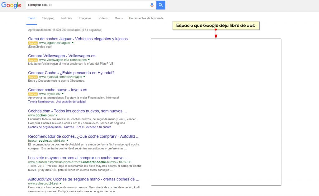 Google elimina los ads laterales - Zesto