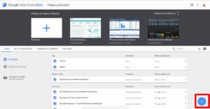 Home de Google Data Studio