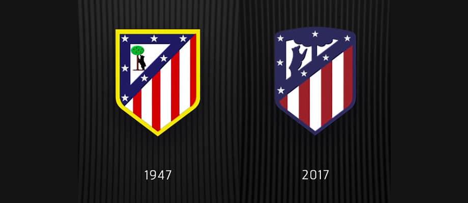 Evolución escudo Atlético de Madrid